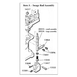 Swage Rod 1050 Assembly