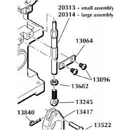 13682 - 5x16-24 Jam Nut Swage