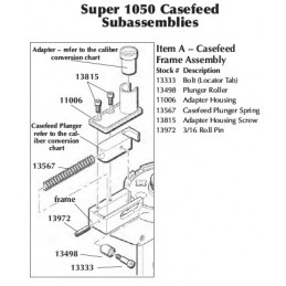 13498 - 1050 Plunger Roller